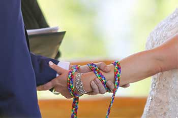 handfasting ceremony : Joyce Mathers Celebrant