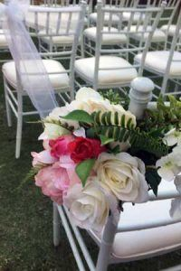 wedding seating flowers